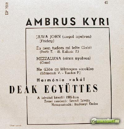 Ambrus Kyri Jawa John/ Mezzaluna